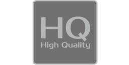 """[logo] texto general con las palabras """"high quality"""" escritas debajo"""
