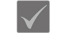 [fotografía] Marca de verificación sobre fondo gris