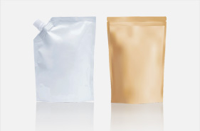 [photo] A silver and brown disposable plastic bags