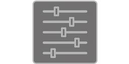[imagen] 5 barras indicadoras horizontales en diferentes posiciones