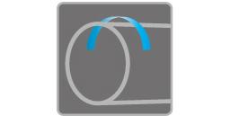 [imagen] Juntas de tubería soldadas con una flecha azul encima apuntando hacia la izquierda.