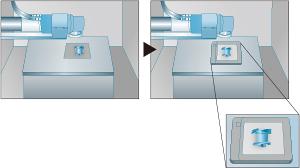 [imagen] Instrucción visual sobre la instalación, mostrando en primer plano el lugar de colocación