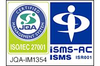 [ロゴ]JQA-IM1354、[ロゴ]ISMS ISR001