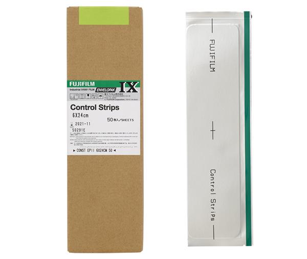 [photo] Boîte de bandelettes de contrôle Fujifilm et une bandelette d'échantillon sur le côté.
