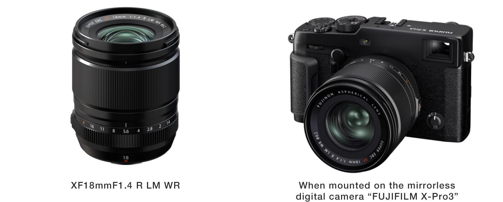 FUJINON Lens XF18mmF1.4 R LM WR