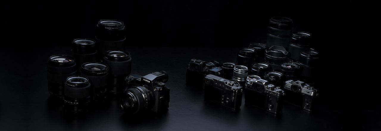 [photo] Assorted Fujifilm digital cameras and lenses