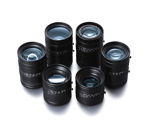[photo] HF-SA Series lenses standing upright and grouped together in a circle