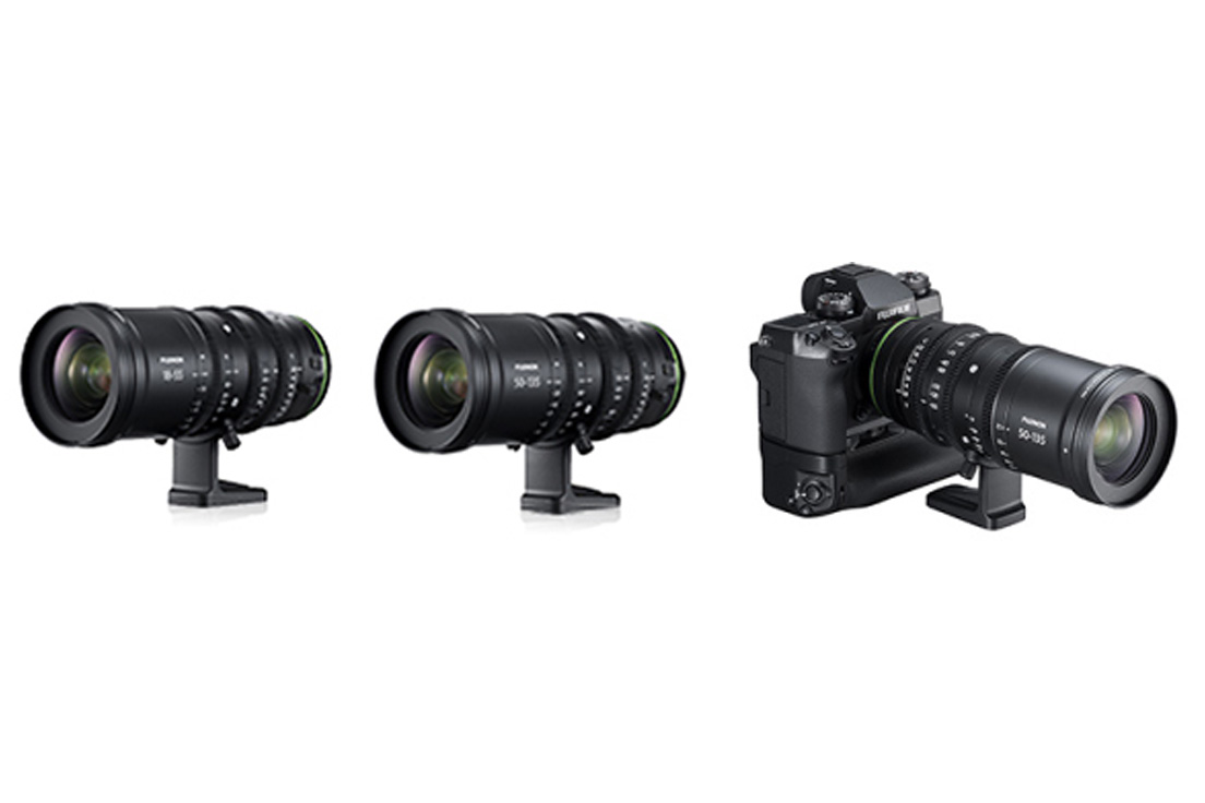 "[Photo]Cine lenses "" FUJINON MKX18-55mm T2.9"" and ""FUJINON MKX50-135mm T2.9"" for the X Series of digital cameras"
