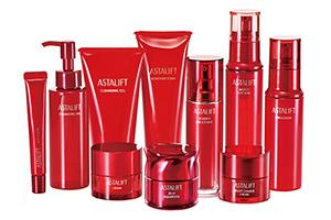 [photo] An assorted collecton of ASTALIFT Skin Care products with a white background.