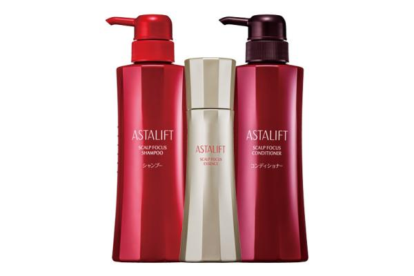 [photo] 3 ASTALIFT HAIR Care Series products with a white background
