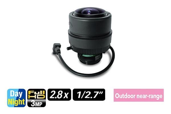 [photo] YV2.8x2.8SR4A-2 /  SA2 / SA2L varifocal lens upright