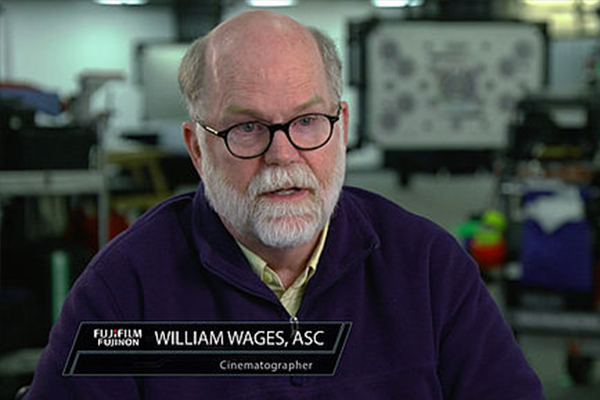 [photo] Screenshot of Cinematographer William Wages during an interview