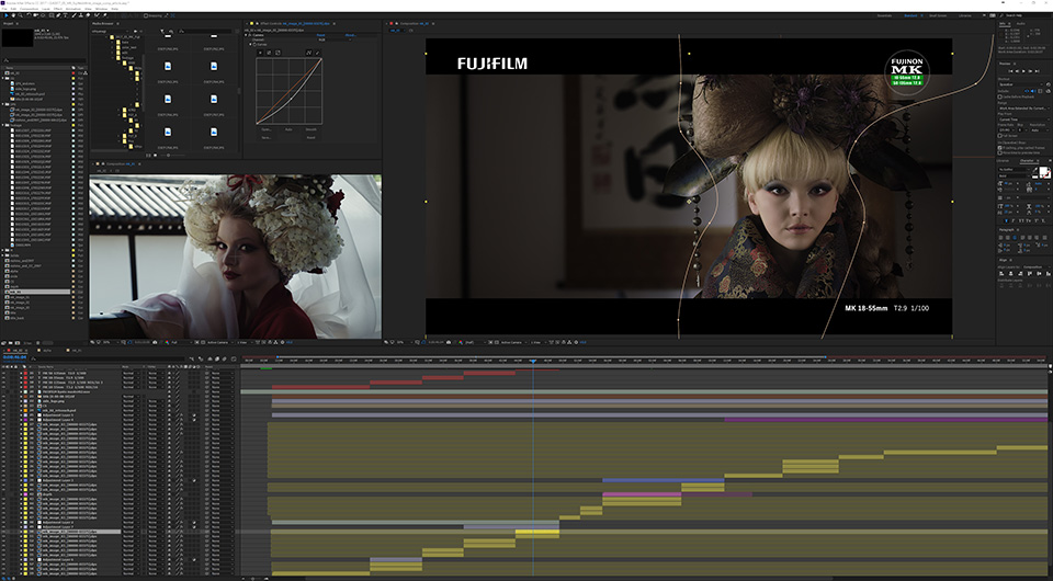 [photo] Screenshot After Effects during editing