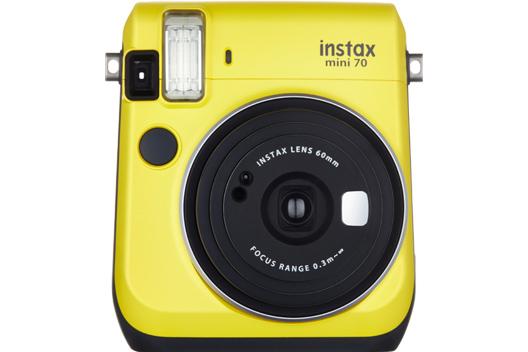 [photo] Instax Mini 70 camera in Yellow