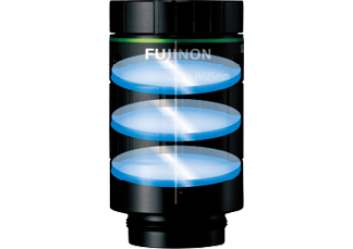 [image] A Fujinon lens frame with 3 vertically aligned layered glass elements in it