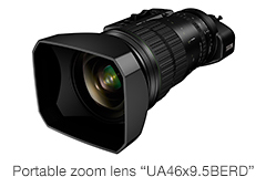 "[Photo]Portable zoom lens""UA46x9.5BERD"""