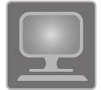 [immagine] Un monitor per computer e una tastiera su una scrivania