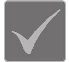 [foto] Un segno di spunta su sfondo grigio