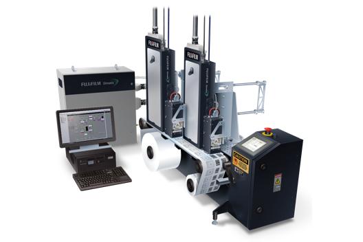 Sistema con barra di stampa a getto d'inchiostro industriale serie Mini 4300