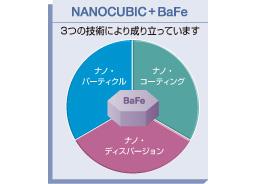 NANOCUBIC +BaFe 3つの技術により成り立っています