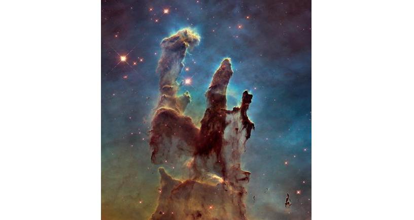 M16(わし星雲)内にある 「創造の柱」と呼ばれる領域 Credit: NASA, ESA/Hubble and the Hubble Heritage Team