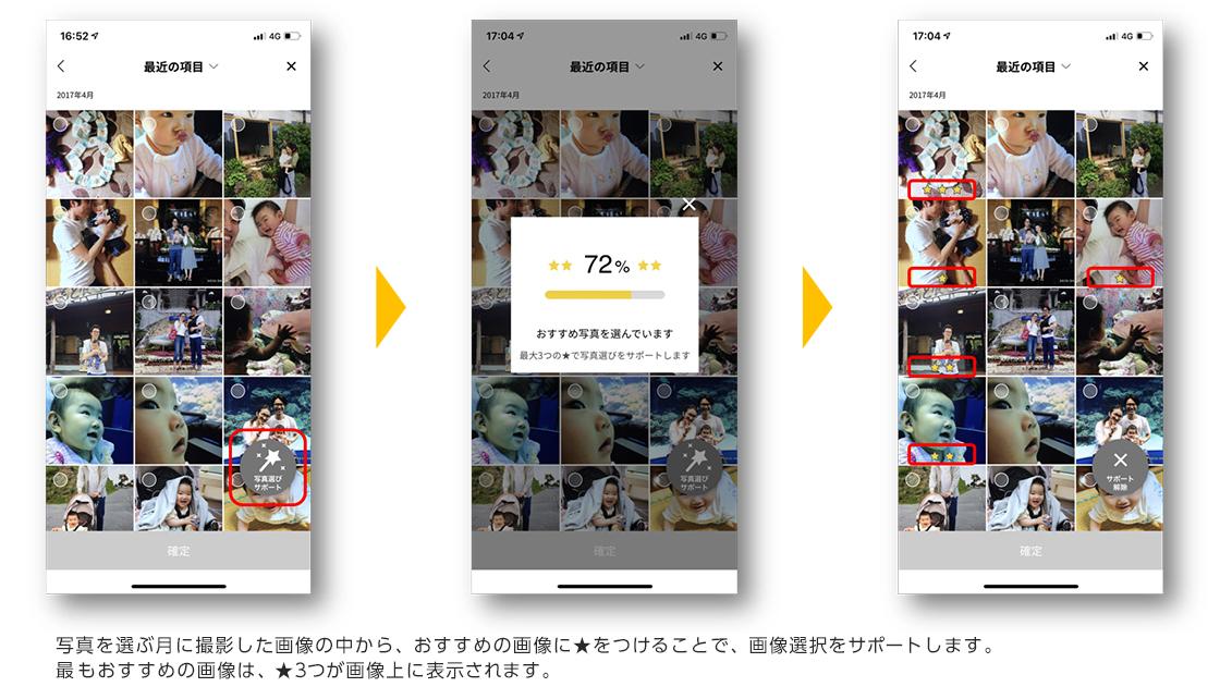 [画像]②写真選択サポート機能
