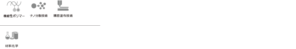 機能性ポリマー ナノ分散技術 精密塗布技術 材料化学