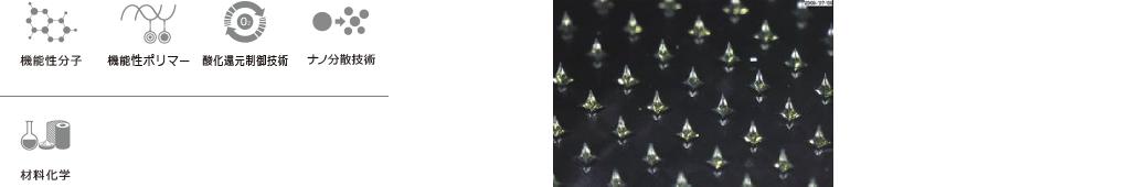 機能性分子 機能性ポリマー 酸化還元制御技術 ナノ分散技術 材料化学