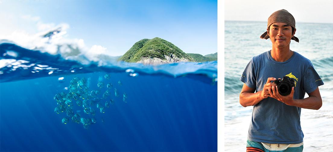 水面下を漂うツバメウオ © ITARU TAKAKU