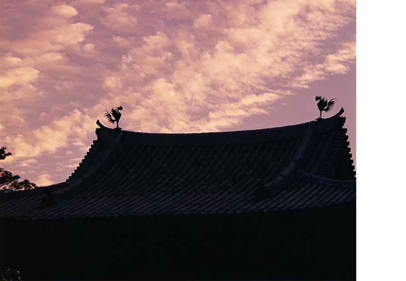 [写真]土門拳 平等院鳳凰堂夕焼け 1961年 ©土門拳写真研究所