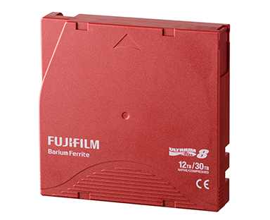 "[image]Magnetic tape storage media ""FUJIFILM LTO Ultrium8 data cartridge"""