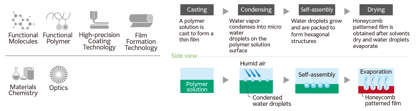 Functional Molecules Functional Polymer High-precision Coating Technology Film Formation Technology Materials Chemistry