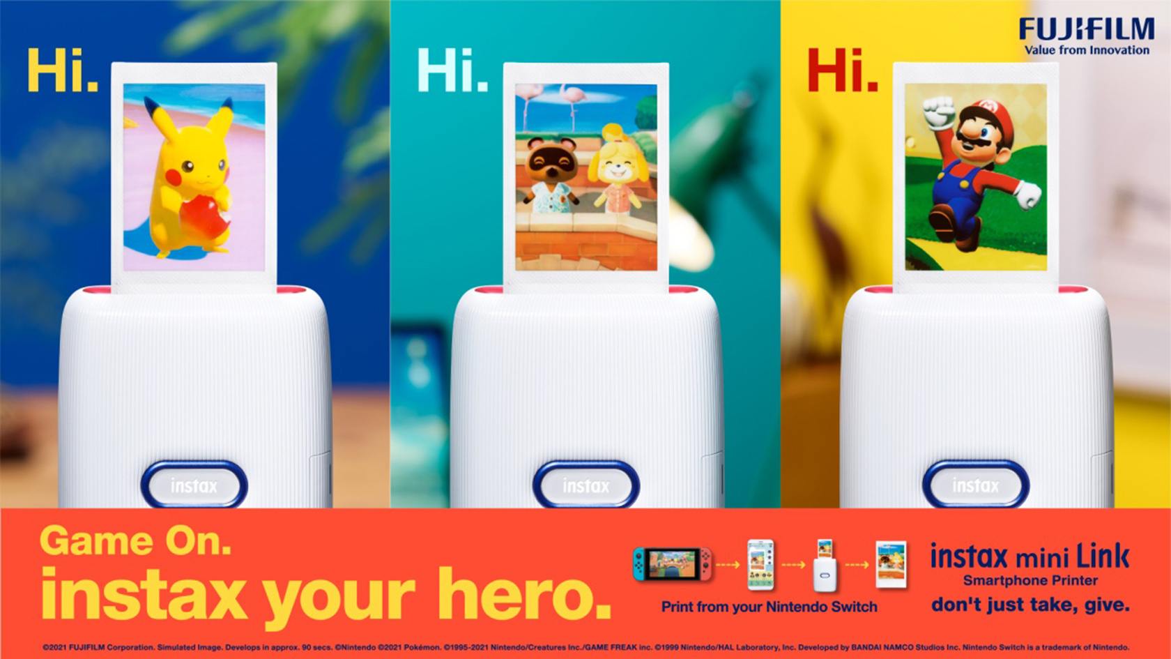 [image]Game On. instax your hero.