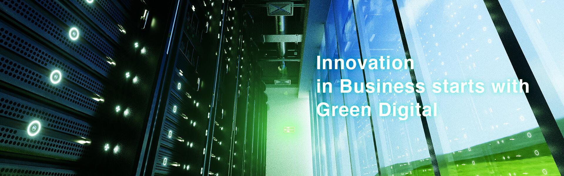 [写真]企業の革新はECO Green Digitalから始まる。