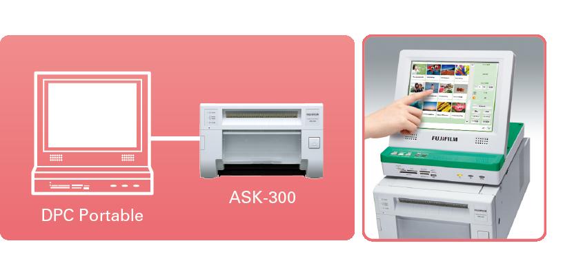 [image] ASK-300 위에 놓여 연결되어 있는 DPC 휴대용 기계
