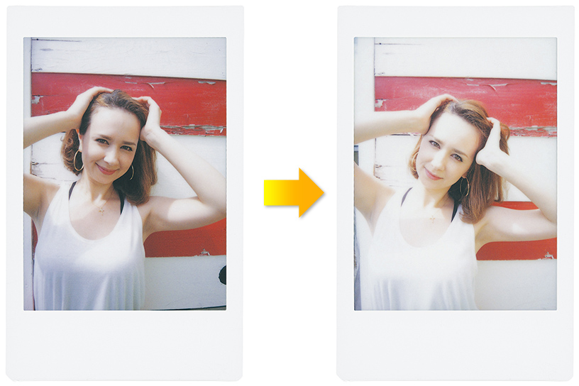 [photo] Side by side photo print outs showing the Hi-key mode feature of the Instax Mini 70
