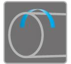 [이미지] 용접으로 연결된 파이프와 그 위에 시계 반대 방향의 파란색 화살표.