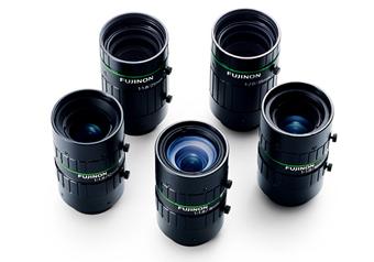 [사진] 후지논 머신 비전 렌즈 5개의 조감도