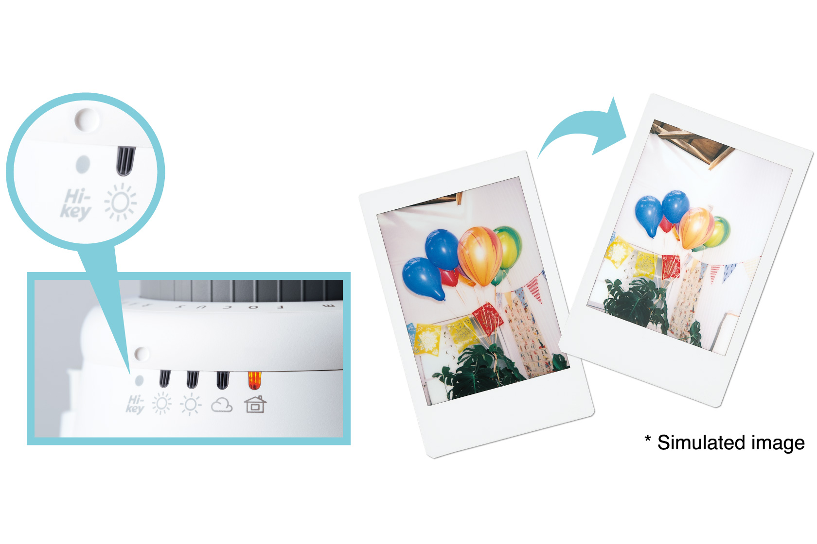 [photo] Highlight of the Instax Mini 9's Hi-Key adjustment dial and sample photos