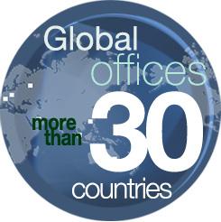 [이미지] 전 세계 30개 이상의 국가에 있는 사무소 운영