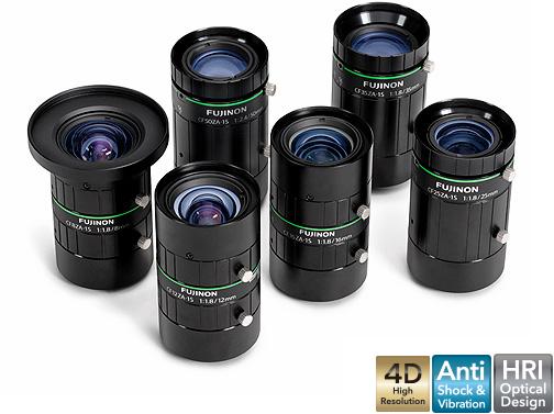 [사진] 수직으로 세워진 CF-ZA-1S 시리즈 렌즈를 그룹으로 모아놓은 모습