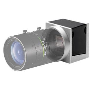 [사진] 소형 머신 비전 카메라에 부착된 투명한 후지논 렌즈
