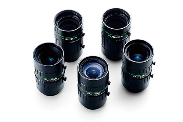 [photo] HF-12M Series lenses standing upright and grouped together in a circle