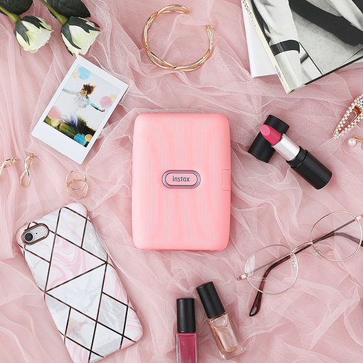 [photo] Dusky Pink printer surrounded by other pink colored accessories and items