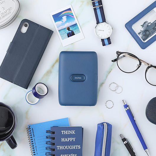 [photo] Dark Denim printer surrounded by other dark blue/denim colored accessories and items