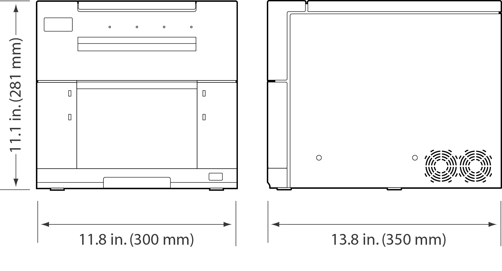 [image] Dimensions of ASK-500, top and bottom