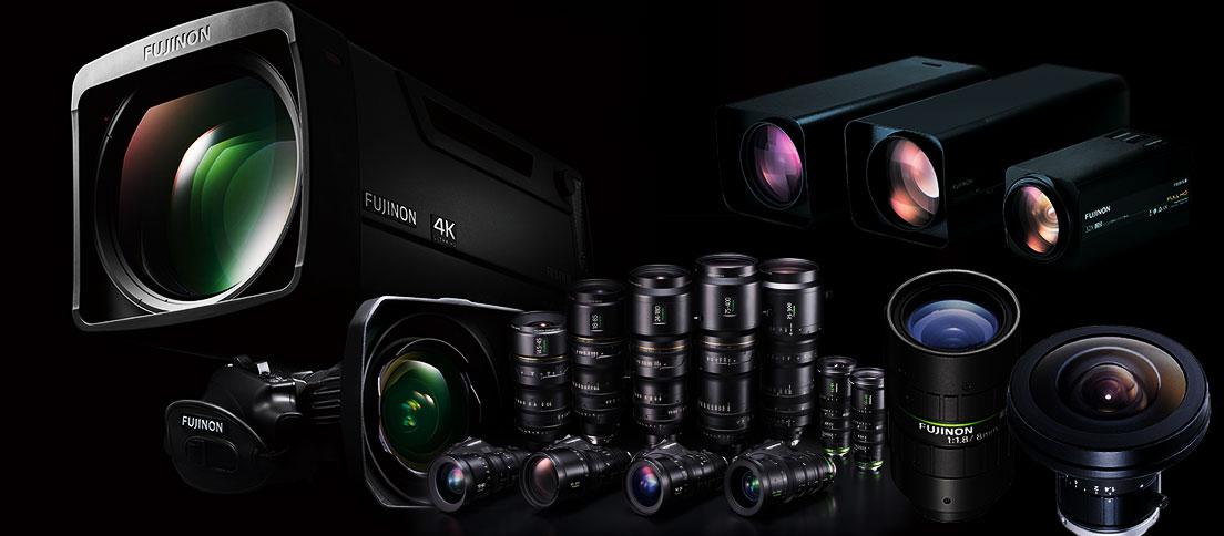 [photo] FUJINON 4K 렌즈와 카메라를 그룹화하고 정렬한 컬렉션