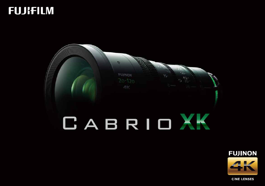 [사진] 녹색 로고가 새겨진 FUJINON 20-120 4K Cabrio XK의 전체 모습