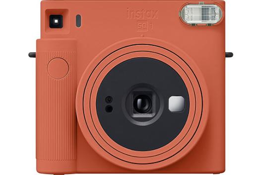 [사진] 테라코타 오렌지 컬러 인스탁스 스퀘어 SQ1 카메라