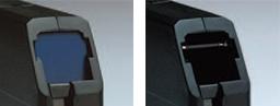 [사진] 카트리지 쉘의 슬라이딩 도어 장치(열림 및 닫힘) 클로즈업